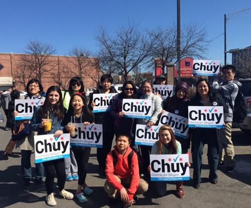 芝加哥市长候选人赴华埠造势盼获华裔选民支持