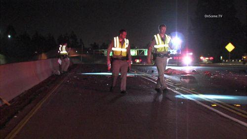美华裔驾车撞上高速路隔音墙下车检查时被撞身亡