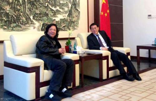 中国驻法兰克福副总领事会见著名书画家韩必省
