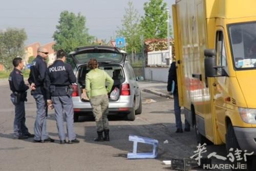 意普拉托一歹徒抢华人流动车开车逃跑时被撞身亡