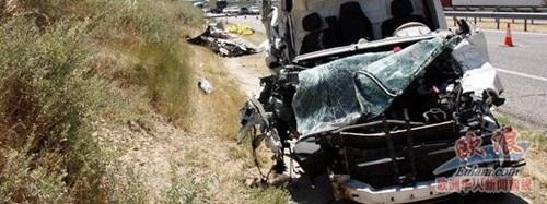 西班牙温州籍侨胞出车祸当场死亡另一华人受伤