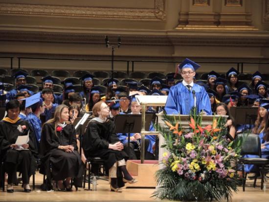 纽约史岱文森高中毕业典礼多数华裔学生入名校