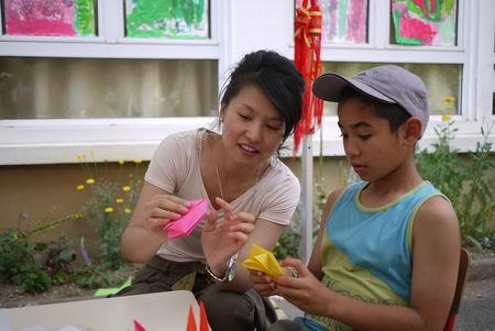 法国普瓦提埃大学孔子学院文化活动走进当地幼儿园
