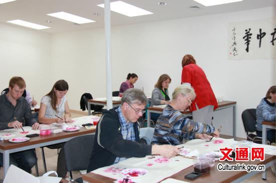 莫斯科中国文化中心国画兴趣班开课