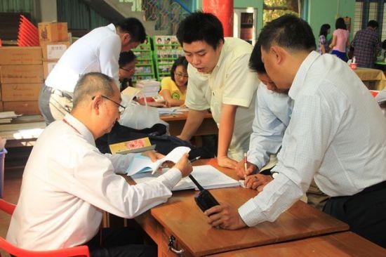 緬北望賴歡歡樂幼兒園與華文教學中心開班