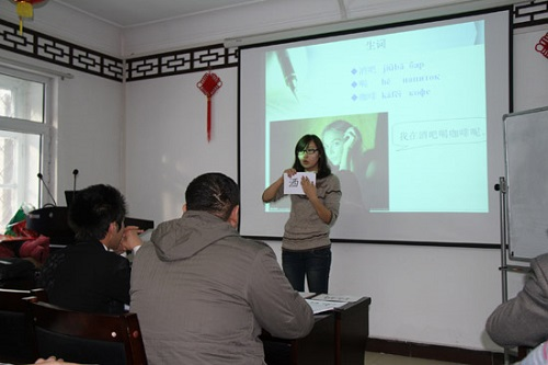 吉尔吉斯孔子学院教师青年教师示范课展风采