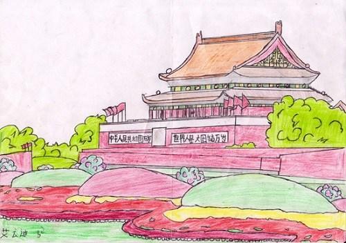 威武的中国龙,宏壮的城楼