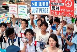 日本高中生抗议新安保法案