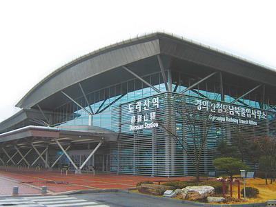 在边境小站上 见证朝韩冷暖(图)