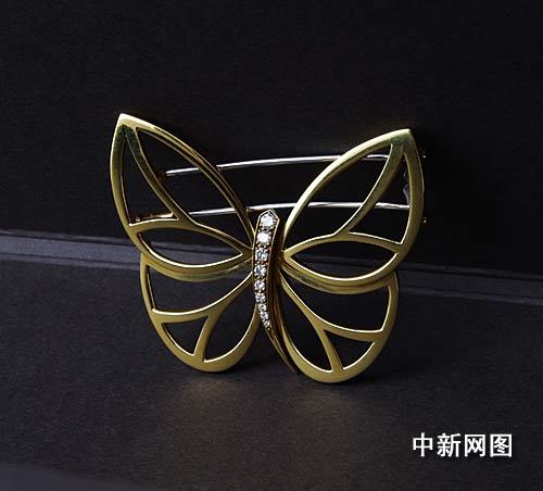 女装腕表及蝴蝶造型胸针图片