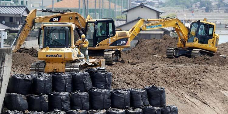 37℃高温阻碍日本暴雨灾区重建工作