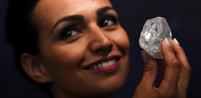 重1109克拉世界第二大钻石原石流拍