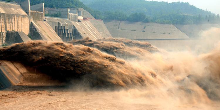 河南济源小浪底水库持续控泄防汛