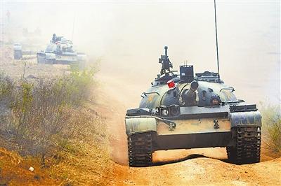 石家庄机械化步兵学院联合4所院校举行战术演练-中新