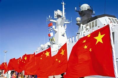 海军黄山舰完成叙化武海运护航任务启程回国(图)