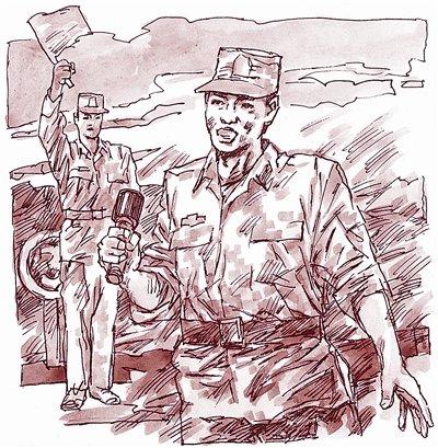 解放军一士兵手榴弹投102米 将军称其人肉迫击炮