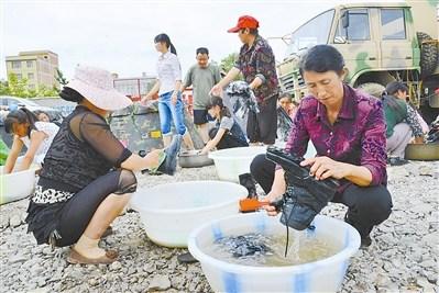 妇女洗衣服简笔画