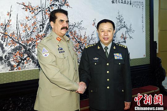 中央军委副主席范长龙会见巴基斯坦陆军参谋长