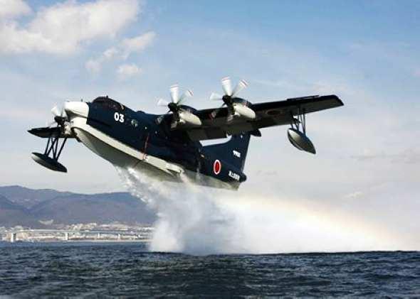 资料图:日本新明和生产的us-2水上飞机是目前最先进的大型水上飞机