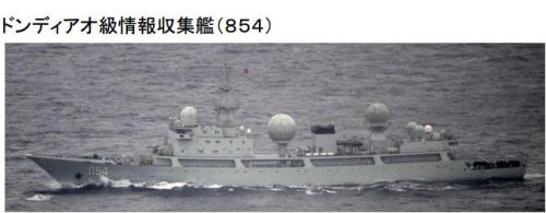 日称中国海军侦察船春节前抵近日本反复航行4天