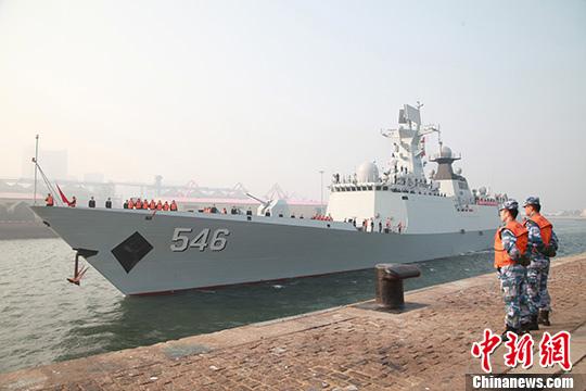中国海军舰艇编队结束新美加演习访问返回青岛
