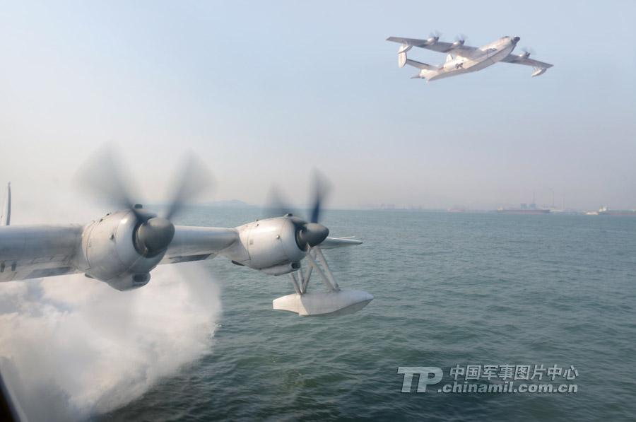 中国海军水上飞机部队苦练侦察岛屿