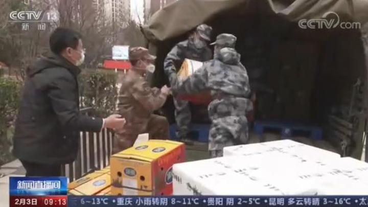 解放军驻鄂部队将承担武汉市民生活物资配送供应任务