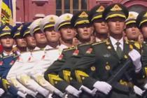 中国最帅天团亮相俄罗斯红场阅兵式