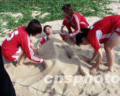 多图:中国女足结束在琼训练赴泰参赛亚洲杯