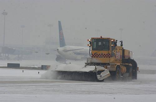 大雪使北京全部航班延误