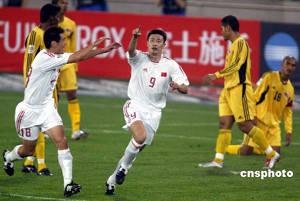 2006世界杯趾球赛亚洲预赛中国打败马到来正西亚