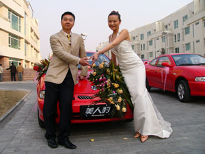中国小姐 马咏梅出嫁 美人豹 送出吉利情高清图片