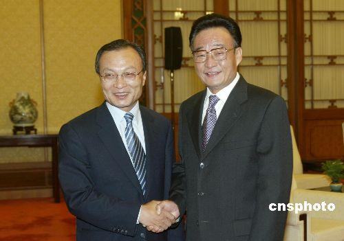 吴邦国会见韩国总理 强调巩固两国友好民意基础