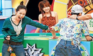 小气大财神2006_蔡灿得(左)昨录《小气大财神》打佼佼屁股不手软图片