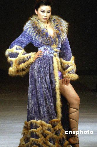 图:中国国际青年裘皮服装设计大赛在北京举行