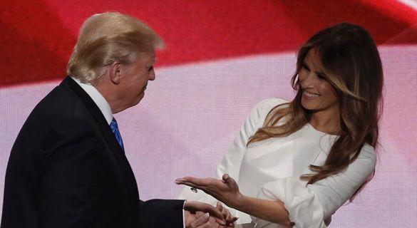尴尬了!特朗普发推祝贺夫人出院 不小心拼错她名字