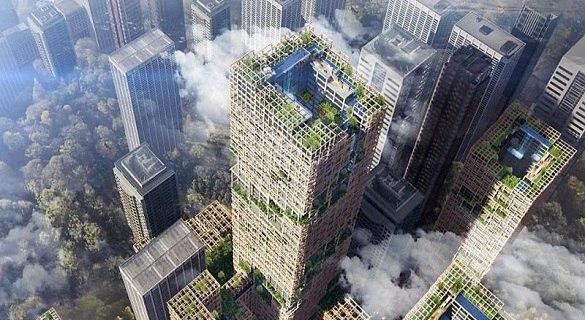 建筑公司大胆构想:在东京建70层木质摩天楼