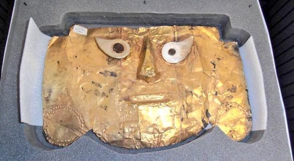 """近20年司法与外交战后,秘鲁黄金面具终""""回家"""""""