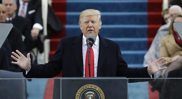 """特朗普宣誓就任美国总统 强调""""美国优先"""""""
