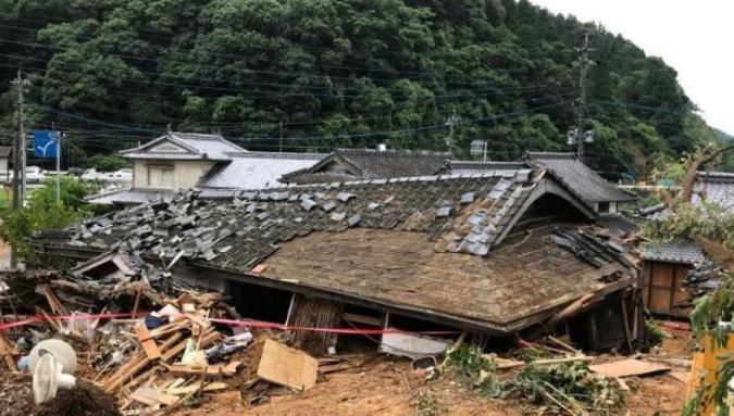 日本熊本县暴雨致49人死 九州122万人接疏散指示