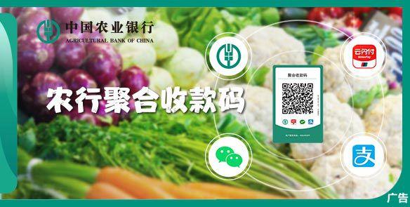 聚合支付收款-蔬菜版 农业银行聚合收款码8大优势