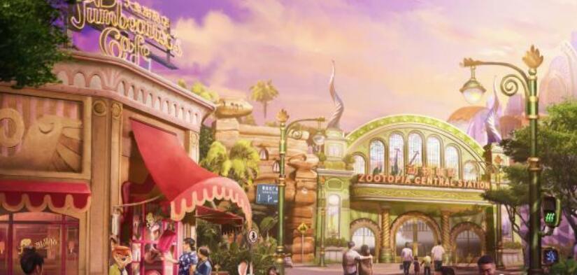 """上海迪士尼乐园新主题园区""""疯狂动物城""""启动施工"""