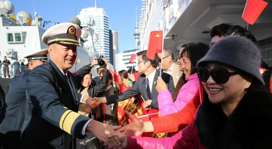 中国海军第二十五批护航编队访问新西兰