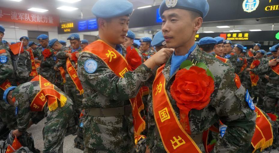 中国第四批赴南苏丹(朱巴)维和步兵营首批官兵出征