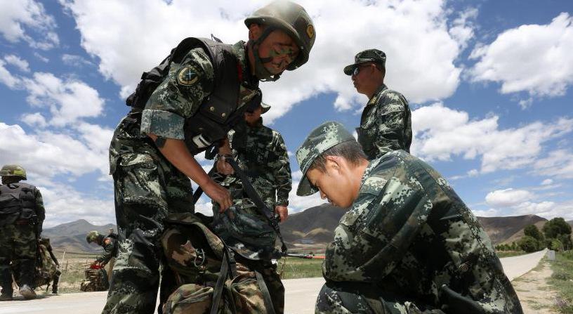 """武警西藏总队开启""""魔鬼周""""极限竞赛训练"""