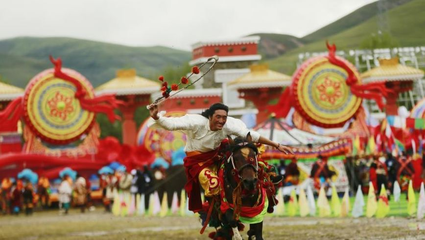 青海省玉树藏族自治州成立70周年庆祝活动举行