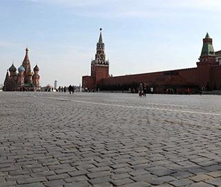"""感受莫斯科""""准封城""""状态"""