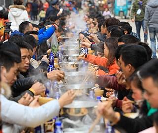 贵州榕江千人同享牛瘪宴