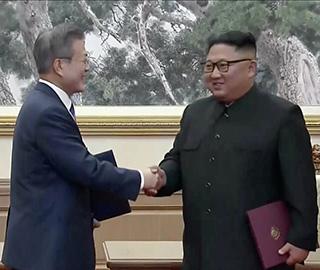 """朝韩领导人签署""""9月平壤共同宣言"""""""