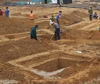 郑州拆迁工地接连发现古墓群